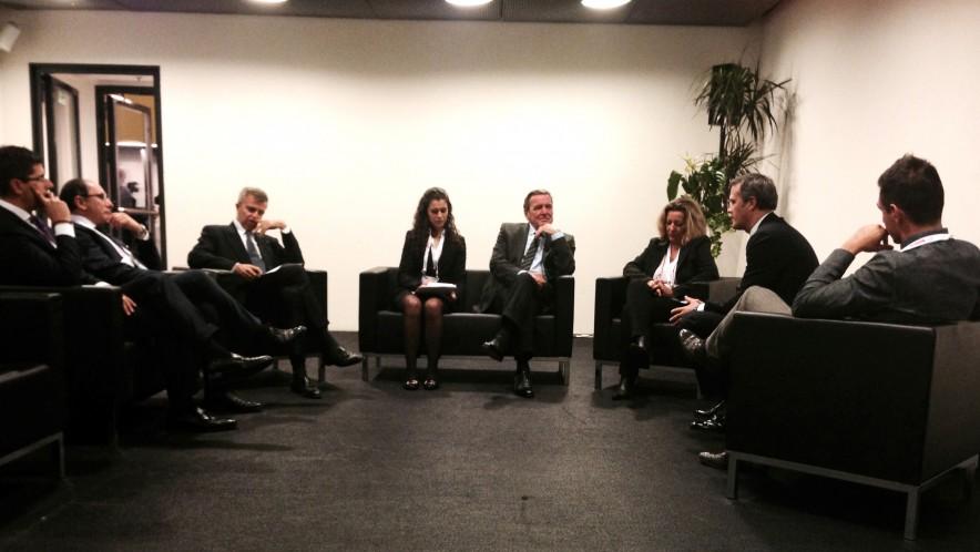 Interpretation for the former German Chancellor Gerhard Schröder and Banca Mediolanum during the World Business Forum